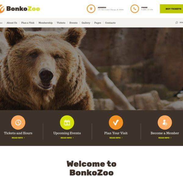 Шаблон для сайта зоопарка и питомника