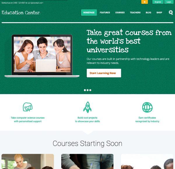 Шаблон Education Center