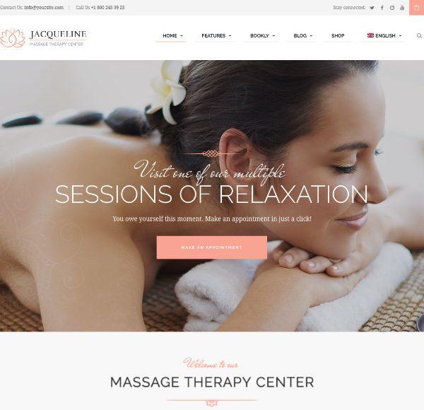 Шаблн для сайта SPA и массажа