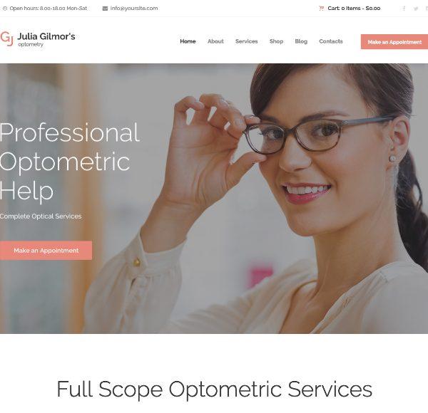 Премиум шаблон Optometry