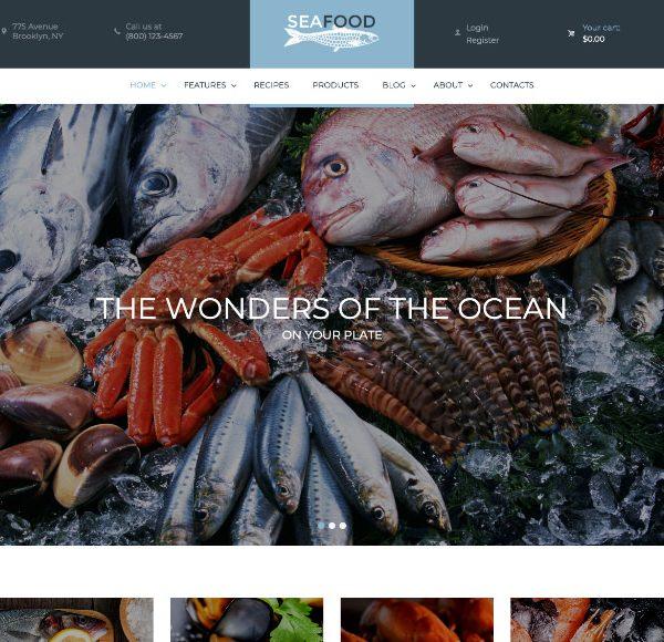 Шаблон Seafood company
