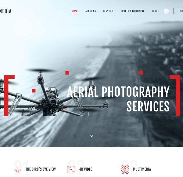 Шаблон по продажи дронов или услуг наблюдения