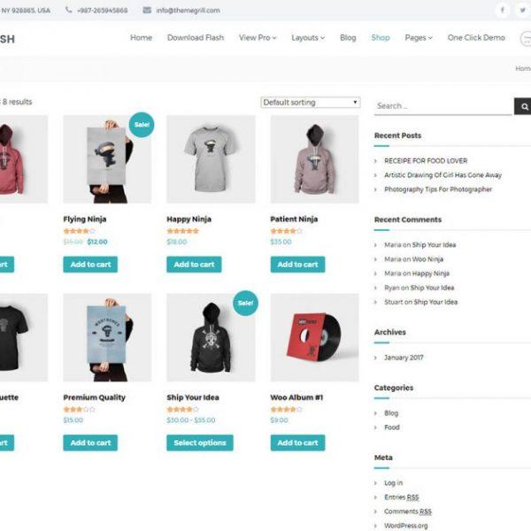 Flash - самая многофункциональная и гибкая бесплатная тема WordPress