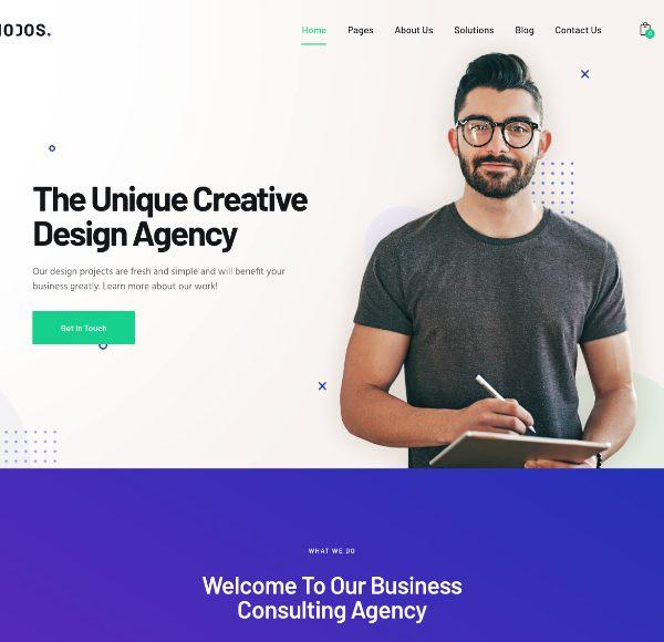 шаблон Rhodos для бизнес сайта